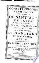 Constituciones Synodales del Priorato de Santiago de Uclés Nullius Diocesis