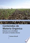 Contenidos de materia orgánica