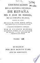 Continuacion de la Historia general de España del P. Juan de Mariana de la Compañia de Jesus