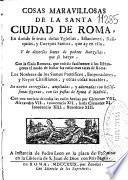 Cosas maravillosas de la santa ciudad de Roma