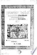 Cronica del rey Don Alonso onzeno. - Medina del Campo, (Pedro de Espinosa) 1563