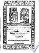 Cronica del sancto Rey Don Fernando tercero, que gano a Sevilla y a toda el Andaluzia
