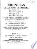 Cronicas de los reyes de Castilla