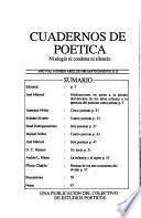 Cuadernos de poética