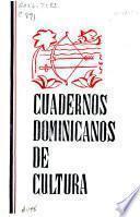 Cuadernos dominicanos de cultura ...