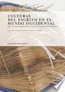 Culturas del escrito en el mundo occidental