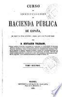 Curso de instituciones de hacienda pública de España, 2