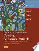 Daniels y Worthingham. Técnicas de balance muscular