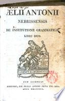De institutione grammaticae