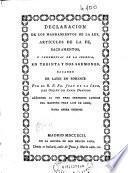 Declaracion de los mandamientos de la ley, articulos de la fe, sacramentos, y ceremonias de la Iglesia
