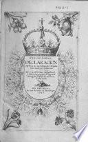 Declaration mystica de las armas de España, invictamente belicosas