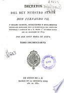 Decretos del rey nuestro señor don Fernando VII
