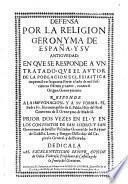 Defensa por la Religion Geronyma de España