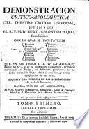 Demostración crítico-apologética del Theatro crítico universal y Defensa de las aprobaciones