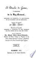 Derecho de gentes, o, Principios de la ley natural, 2