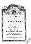 Derechos del pueblo mexicano: Antecedentes y evolución de los artículos 54 a 75 constitucionales
