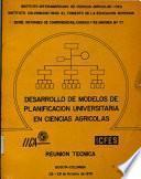 desarrollo de modelos de planificacion universitaria en ciencias agricolas