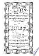 Despertador christiano Santoral, de varios Sermones de Santos
