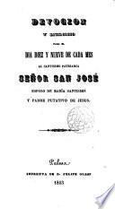 Devoción... para el día diez y nueve de cada mes al... Sr. San José... Palma 1863