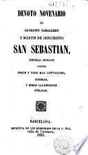 Devoto novenario al glorioso caballero y mártir de Jesucristo San Sebastian
