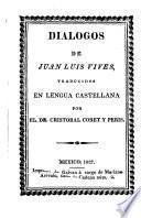 Dialogos de Juan Luis Vives