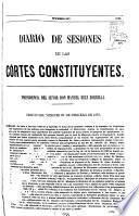 Diario de sesiones de las Córtes constituyentes