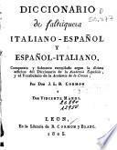 Diccionari de faltriquera italiano-español y español-italiano