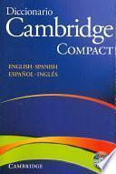 Diccionario Bilingue Cambridge Spanish-English Paperback with CD-ROM Compact Edition
