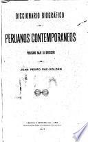Diccionario biografico de peruanos contemporaneos