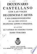 Diccionario castellano con las voces de ciencias y artes y sus correspondientes en las tres lenguas francesa, latina é italiana: P-Z