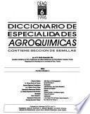Diccionario de especialidades agroquímicas