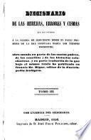 Diccionario de las herejias, errores y cismas
