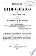 Diccionario etimológico de la lengue castellana