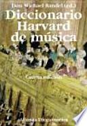 Diccionario Harvard de música