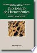 Diccionario interdisciplinar de hermenéutica