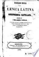 Diccionario manual de la lengua latina