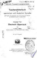Diccionario manual de las lenguas españolas y alemana