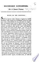 Diccionario Napoleonino. Por el Duende Frances. [Verses.]