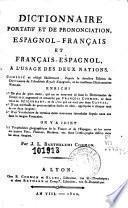 Diccionario portátil y de pronunciacion, español-frances y frances-español