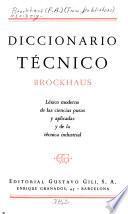 Diccionario técnico Brockhaus