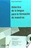 Didáctica de la lengua para la formación de maestros