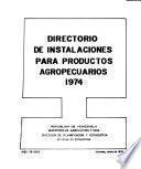 Directorio de instalaciones para productos agropecuarios