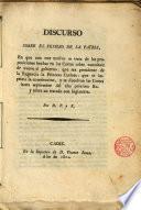 Discurso sobre el peligro de la Patria En que con este motivo se trata de las proposiciones hechas en las Cortes sobre constituir de nuevo gobierno