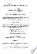 Discursos críticos sobre las leyes y sus intérpretes, 2