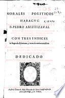 Discursos morales y politicos sobre el cantico de Habacuc