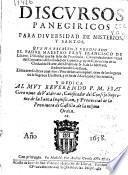 Discursos panegiricos para diuersidad de misterios y santos
