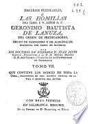 Discursos predicables ó Las homilías del ... señor D.F. Geronimo Bautista de Lanuza ...