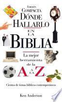 Donde Hallarlo en la Biblia edición compacta