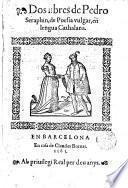 Dos libres de Pedro Seraphin de Poesia vulgar en lengua Cathalana
