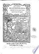 Dos libros de cosmographia compuestos nueuamente por Hieronymo Giraua Tarragones